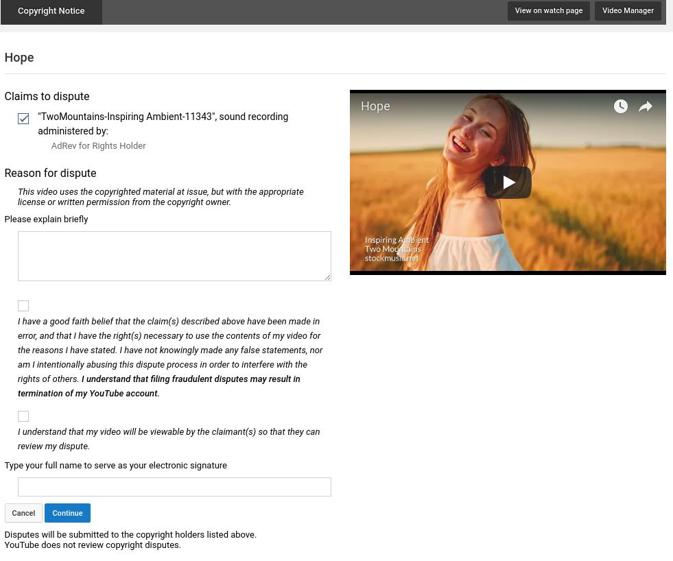 Dispute YouTube Copyright ContentID Claims | stockmusic net
